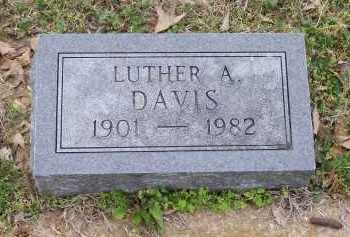 DAVIS, LUTHER A. - Lawrence County, Arkansas | LUTHER A. DAVIS - Arkansas Gravestone Photos