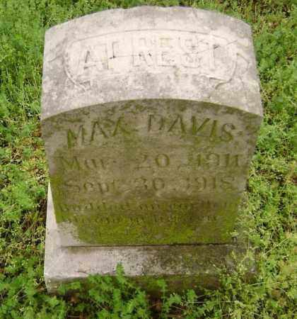 DAVIS, MAX - Lawrence County, Arkansas | MAX DAVIS - Arkansas Gravestone Photos