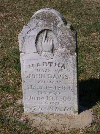 DAVIS, MARTHA - Lawrence County, Arkansas | MARTHA DAVIS - Arkansas Gravestone Photos