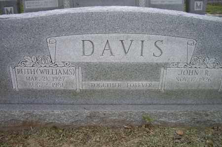 WILLIAMS DAVIS, RUTH - Lawrence County, Arkansas | RUTH WILLIAMS DAVIS - Arkansas Gravestone Photos