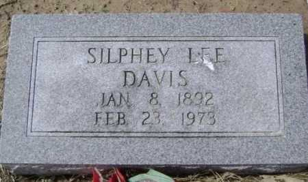DAVIS, SILPHEY LEE - Lawrence County, Arkansas | SILPHEY LEE DAVIS - Arkansas Gravestone Photos