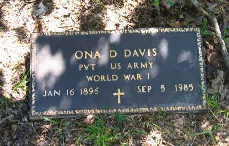 DAVIS (VETERAN WWI), ONA DREW - Lawrence County, Arkansas | ONA DREW DAVIS (VETERAN WWI) - Arkansas Gravestone Photos