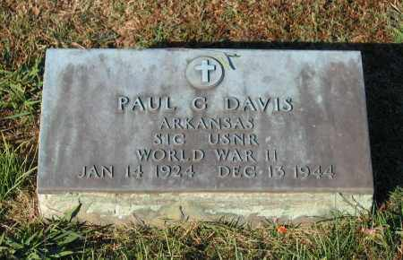 DAVIS (VETERAN WWII), PAUL G - Lawrence County, Arkansas | PAUL G DAVIS (VETERAN WWII) - Arkansas Gravestone Photos