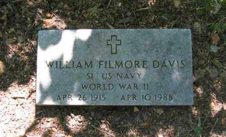 DAVIS (VETERAN WWII), WILLIAM FILMORE - Lawrence County, Arkansas | WILLIAM FILMORE DAVIS (VETERAN WWII) - Arkansas Gravestone Photos