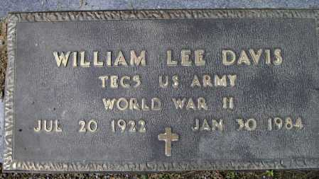 DAVIS (VETERAN WWII), WILLIAM LEE - Lawrence County, Arkansas | WILLIAM LEE DAVIS (VETERAN WWII) - Arkansas Gravestone Photos