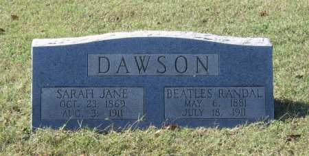 DAWSON, SARAH JANE - Lawrence County, Arkansas | SARAH JANE DAWSON - Arkansas Gravestone Photos