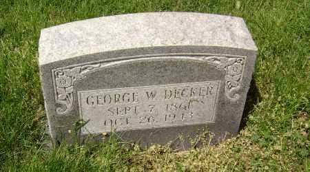 DECKER, GEORGE W. - Lawrence County, Arkansas   GEORGE W. DECKER - Arkansas Gravestone Photos