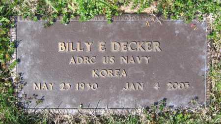 DECKER (VETERAN KOR), BILLY E - Lawrence County, Arkansas   BILLY E DECKER (VETERAN KOR) - Arkansas Gravestone Photos
