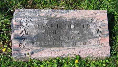 DECKER (VETERAN WWII), FRANK BAXTON - Lawrence County, Arkansas | FRANK BAXTON DECKER (VETERAN WWII) - Arkansas Gravestone Photos
