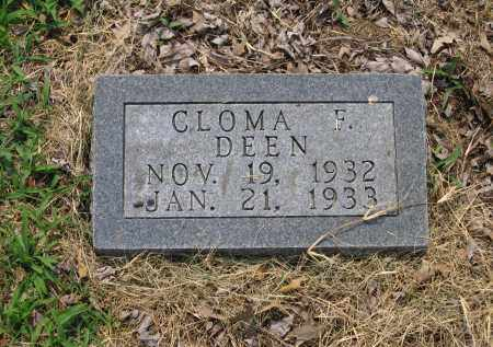 DEEN, CLOMA F. - Lawrence County, Arkansas | CLOMA F. DEEN - Arkansas Gravestone Photos