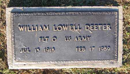 DEETER (VETERAN), WILLIAM LOWELL - Lawrence County, Arkansas | WILLIAM LOWELL DEETER (VETERAN) - Arkansas Gravestone Photos