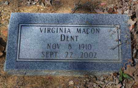 MACON DENT, VIRGINIA - Lawrence County, Arkansas | VIRGINIA MACON DENT - Arkansas Gravestone Photos