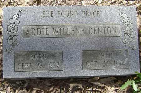 DENTON, ADDIE WILLENE - Lawrence County, Arkansas | ADDIE WILLENE DENTON - Arkansas Gravestone Photos