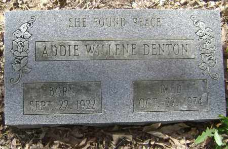 DENTON, ADDIE WILLENE - Lawrence County, Arkansas | ADDIE WILLENE DENTON - Arkansas Gravestone Photos