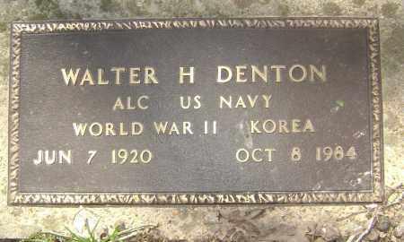 DENTON (VETERAN 2 WARS), WALTER H - Lawrence County, Arkansas | WALTER H DENTON (VETERAN 2 WARS) - Arkansas Gravestone Photos