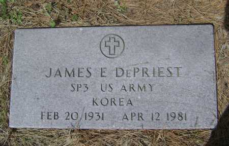 DEPRIEST  (VETERAN KOR), JAMES EARL - Lawrence County, Arkansas | JAMES EARL DEPRIEST  (VETERAN KOR) - Arkansas Gravestone Photos