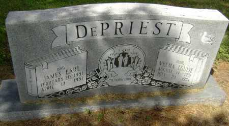 DEPRIEST, JAMES EARL - Lawrence County, Arkansas | JAMES EARL DEPRIEST - Arkansas Gravestone Photos