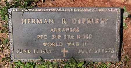 DEPRIEST (VETERAN WWII), HERMAN R. - Lawrence County, Arkansas | HERMAN R. DEPRIEST (VETERAN WWII) - Arkansas Gravestone Photos