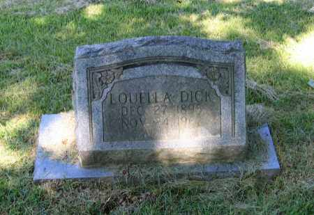 DICK, LOUELLA - Lawrence County, Arkansas | LOUELLA DICK - Arkansas Gravestone Photos