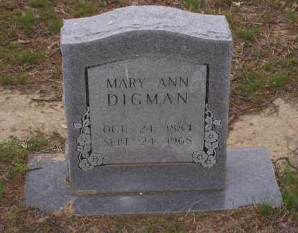 DIGMAN, MARY ANN - Lawrence County, Arkansas | MARY ANN DIGMAN - Arkansas Gravestone Photos