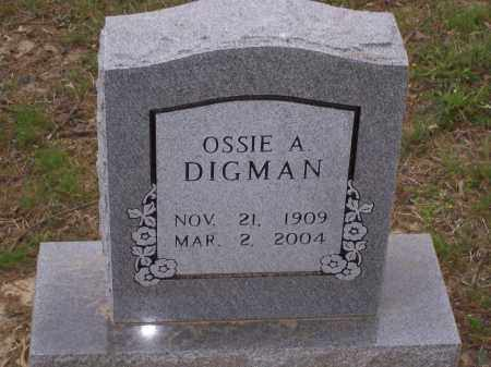 DIGMAN, OSSIE ARTHUR - Lawrence County, Arkansas | OSSIE ARTHUR DIGMAN - Arkansas Gravestone Photos