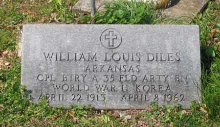 DILES (VETERAN 2 WARS), WILLIAM LOUIS - Lawrence County, Arkansas   WILLIAM LOUIS DILES (VETERAN 2 WARS) - Arkansas Gravestone Photos