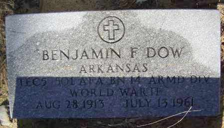 DOW (VETERAN WWII), BENJAMIN F. - Lawrence County, Arkansas | BENJAMIN F. DOW (VETERAN WWII) - Arkansas Gravestone Photos