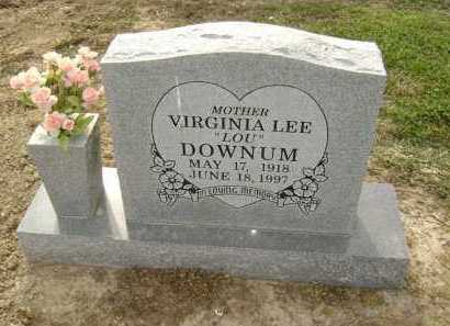 "DOWNUM, VIRGINIA LEE ""LOU"" - Lawrence County, Arkansas 
