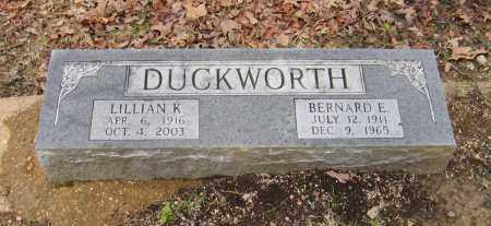 DUCKWORTH, BERNARD E. - Lawrence County, Arkansas | BERNARD E. DUCKWORTH - Arkansas Gravestone Photos