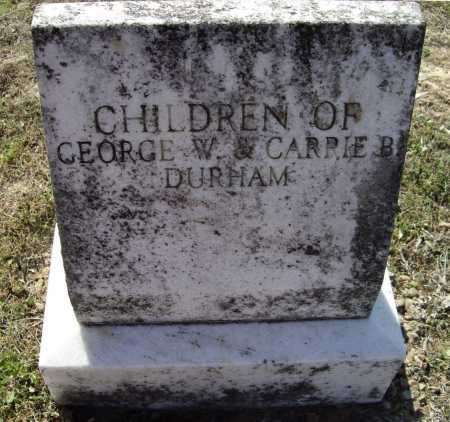 DURHAM, CHILDREN - Lawrence County, Arkansas | CHILDREN DURHAM - Arkansas Gravestone Photos