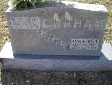 SMITH DURHAM, ANNIE BELL - Lawrence County, Arkansas | ANNIE BELL SMITH DURHAM - Arkansas Gravestone Photos
