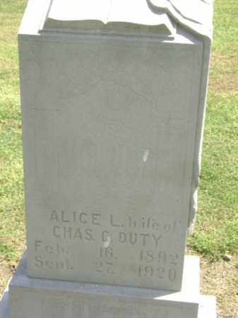 DUTY, ALICE L. - Lawrence County, Arkansas | ALICE L. DUTY - Arkansas Gravestone Photos