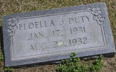 DUTY, FLOELLA J. - Lawrence County, Arkansas | FLOELLA J. DUTY - Arkansas Gravestone Photos