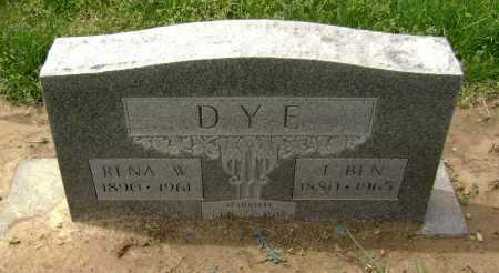 "DYE, JAMES BENJAMIN  ""BEN"" - Lawrence County, Arkansas 