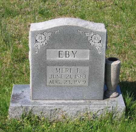 EBY, MERL FRANKLIN - Lawrence County, Arkansas | MERL FRANKLIN EBY - Arkansas Gravestone Photos
