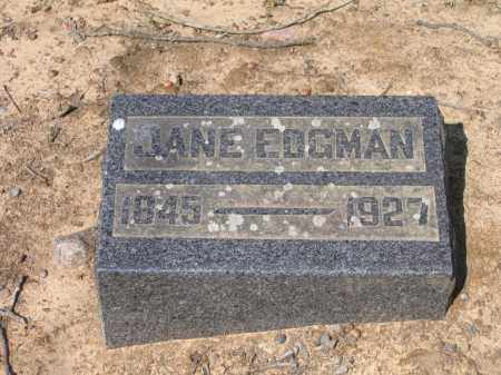 EDGMAN, JANE - Lawrence County, Arkansas | JANE EDGMAN - Arkansas Gravestone Photos