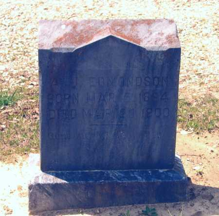 EDMONDSON, A. J. - Lawrence County, Arkansas | A. J. EDMONDSON - Arkansas Gravestone Photos
