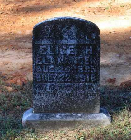 ELAXANDER, ELIGE H. - Lawrence County, Arkansas   ELIGE H. ELAXANDER - Arkansas Gravestone Photos