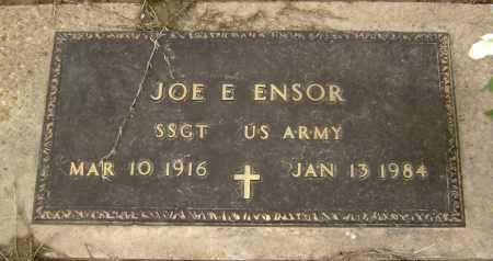 ENSOR  (VETERAN), JOE E. - Lawrence County, Arkansas | JOE E. ENSOR  (VETERAN) - Arkansas Gravestone Photos