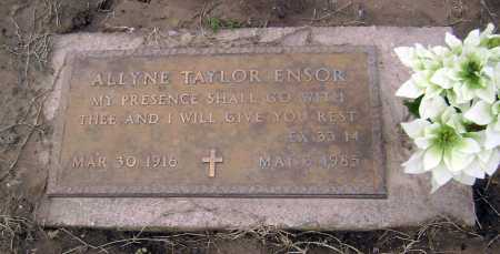TAYLOR ENSOR, ALLYNE - Lawrence County, Arkansas | ALLYNE TAYLOR ENSOR - Arkansas Gravestone Photos