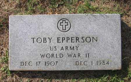 EPPERSON (VETERAN WWII), TOBY - Lawrence County, Arkansas | TOBY EPPERSON (VETERAN WWII) - Arkansas Gravestone Photos