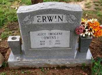 OWENS ERWIN, ALLICE IMOGENE - Lawrence County, Arkansas | ALLICE IMOGENE OWENS ERWIN - Arkansas Gravestone Photos