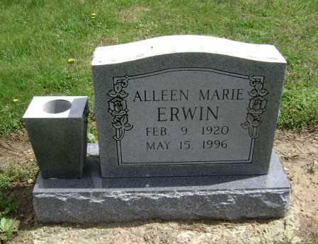ERWIN, ALLEEN MARIE - Lawrence County, Arkansas   ALLEEN MARIE ERWIN - Arkansas Gravestone Photos
