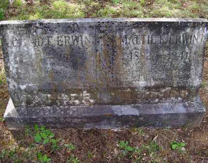 ERWIN, MATTIE ELLEN - Lawrence County, Arkansas | MATTIE ELLEN ERWIN - Arkansas Gravestone Photos
