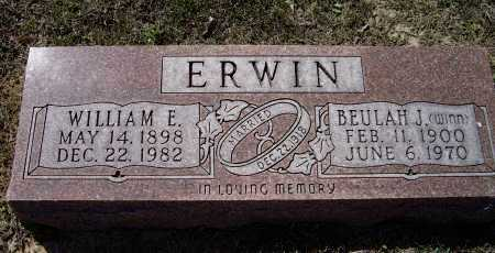 ERWIN, WILLIAM ELMER - Lawrence County, Arkansas | WILLIAM ELMER ERWIN - Arkansas Gravestone Photos