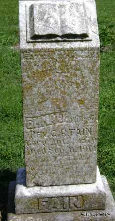 FAIN, EMMA - Lawrence County, Arkansas | EMMA FAIN - Arkansas Gravestone Photos