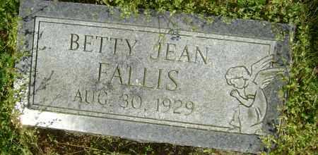 FALLIS, BETTY JEAN - Lawrence County, Arkansas | BETTY JEAN FALLIS - Arkansas Gravestone Photos