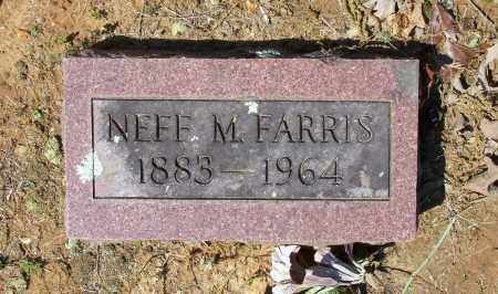 FARRIS, SR., NEFF M. - Lawrence County, Arkansas | NEFF M. FARRIS, SR. - Arkansas Gravestone Photos