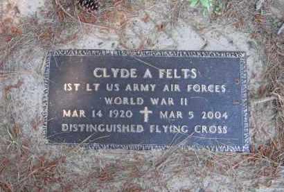 FELTS (VETERAN WWII), CLYDE ALTON - Lawrence County, Arkansas | CLYDE ALTON FELTS (VETERAN WWII) - Arkansas Gravestone Photos