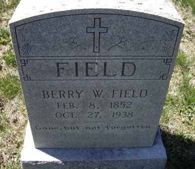 FIELD, BERRY WASHINGTON - Lawrence County, Arkansas | BERRY WASHINGTON FIELD - Arkansas Gravestone Photos